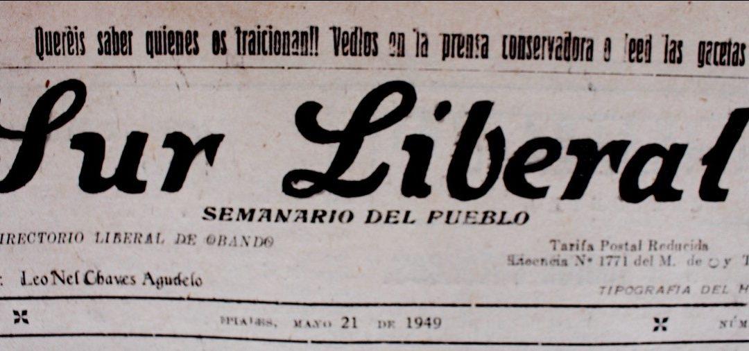 El Periódico Sur liberal, Ipiales y Jorge Eliécer Gaitán.
